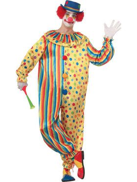Spots the Clown Costume Mens Costume