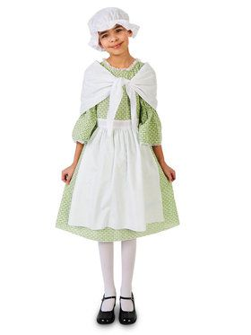 Spring Meadow Printed Colonial Costume For Children