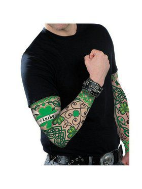 St. Patrick's Day Arm Tattoo Sleeves Adult