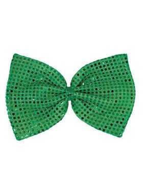 St. Patrick's Day Giant Green Sequin Bow Tie