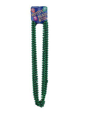 St Patrick's Day Green Beads 6 Pieces