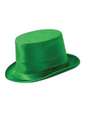 St Patrick's Day Green Dura Form Vel Felt Top Hat