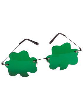 St Patrick's Day Green Shamrock Glasses