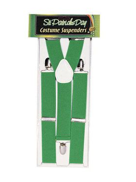 St Patrick's Day Green Suspenders
