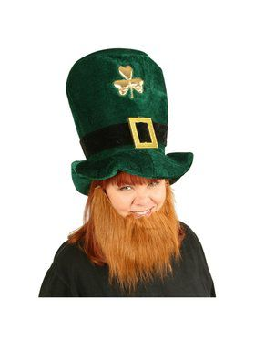 St. Patrick's Day Leprechaun Hat w/ Beard