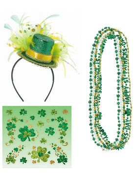 St. Patrick's Day Mini Hat and Bead Bundle