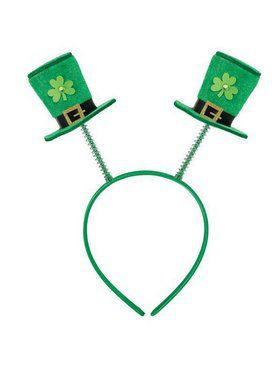 St. Patrick's Day Top Hat Adult Headband Boppers