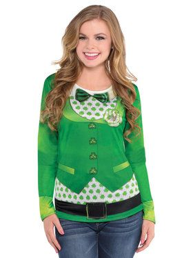 St. Patrick's Day Long Sleeve Top For Adults