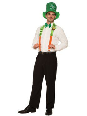 St. Pat's Pet Collar and Suspenders