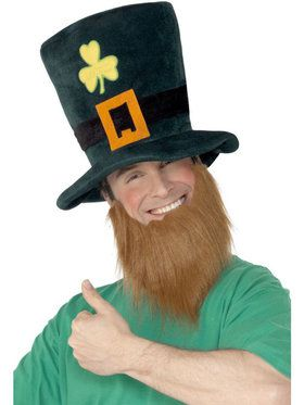 St. Pat's Leprechaun Hat with Beard