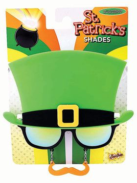 Saint Patrick's Day Moustache Glasse