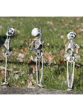 Set of 3 Gnarly Staked Skeletons