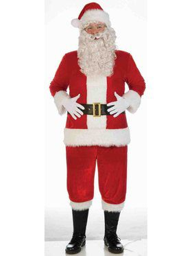 Standard Red Deluxe Adult Velvet Santa Suit