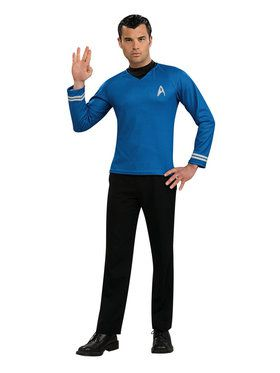 Star Trek Movie Blue Shirt Costume For Adults