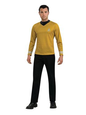 Star Trek Movie Gold Shirt Costume For Adults