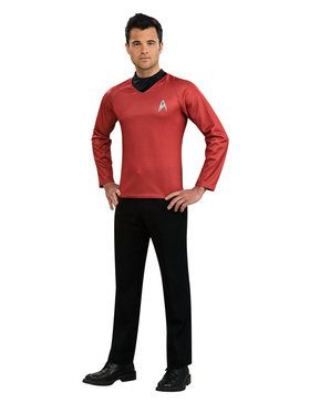Star Trek Men's Movie Red Shirt Classic Adult Costume