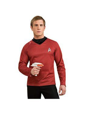 Star Trek the Movie Adult Deluxe Red Shirt