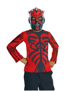Kids Darth Maul Black and Red Costume Shirt