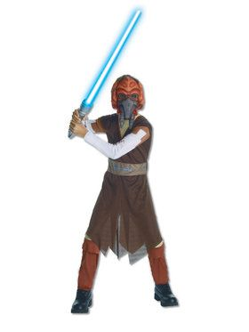 Star Wars The Clone Wars Plo Koon Costume with Mask