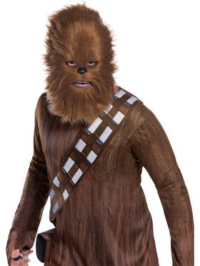 Star Wars: Classic Chewbacca Mask With Fur for Adults