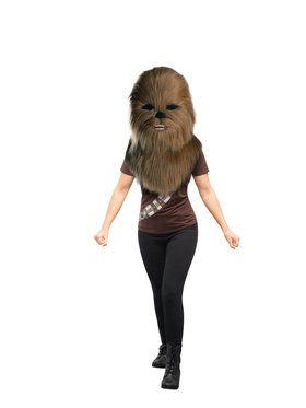 Adult Star Wars Classic Chewbacca Plush Oversized Mask