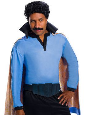 Star Wars: Classic Lando Calrissian Wig and Mustache Combo Pack for Adults
