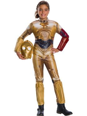 Star Wars: Classic The Force Awakens Deluxe C-3Po Costume for Girls