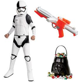 Star Wars Episode VIII: The Last Jedi - Child Executioner Trooper Costume With Blaster and Candy Pail
