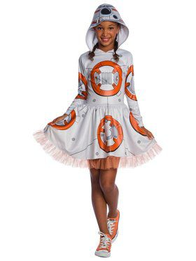 Star Wars Episode VII BB-8 Hooded Tutu Dress for Kids