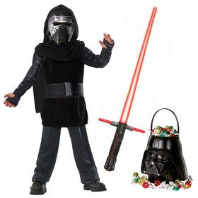 Star Wars Episode VIII: The Last Jedi - Kylo Ren Classic Child Costume and Lightsaber Bundle