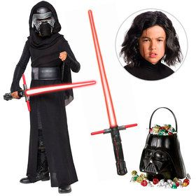 Star Wars Episode VIII: The Last Jedi - Kylo Ren Deluxe Child Costume With Wig And Lightsaber