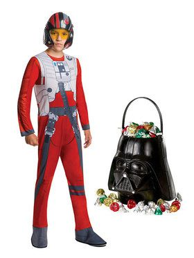 Star Wars Episode VIII: The Last Jedi - Toddler Poe Dameron Costume And Candy Pail Bundle