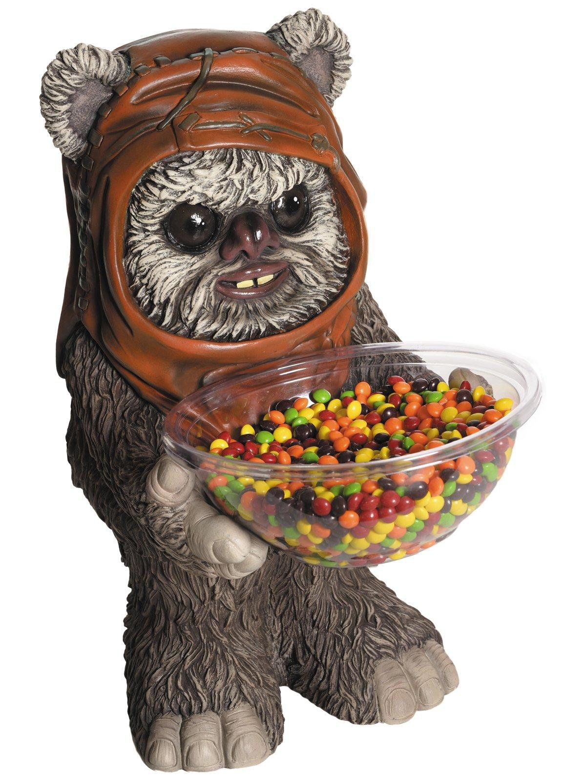 star wars ewok candy bowl and holder - halloween decorations for
