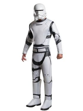 Star Wars The Force Awakens Deluxe Flame Trooper Men's Costume