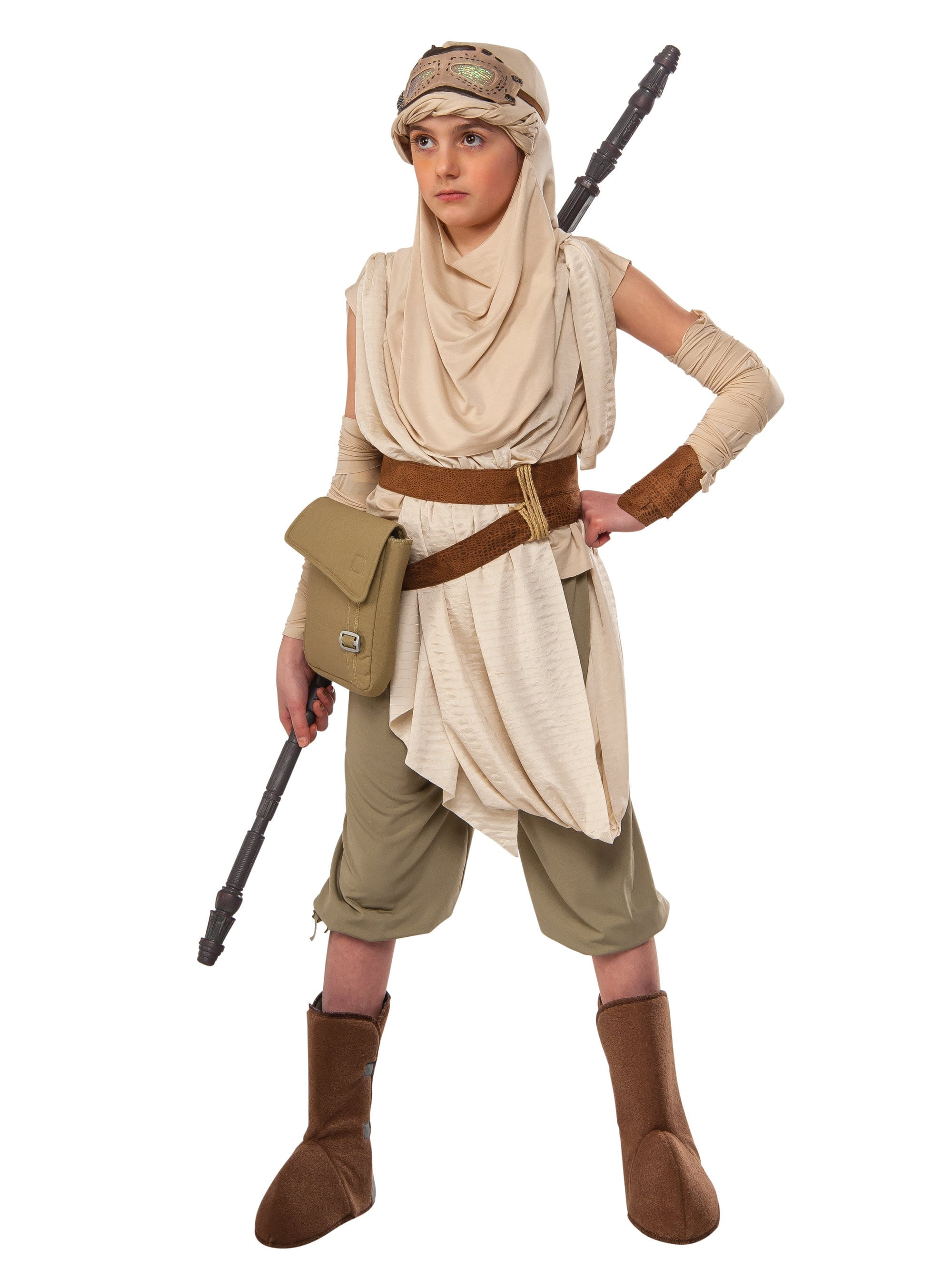 Star Wars The Force Awakens Premium Rey Costume For Children Girls Costumes For 2019 Wholesale Halloween Costumes