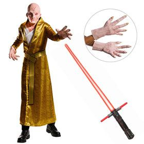 Star Wars The Last Jedi - Deluxe Mens Supreme Lightsaber Leader Snoke Costume With Lightsaber And Hands