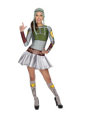 Star Wars Womens Female Boba Fett Costume
