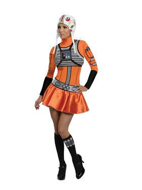 Star Wars Womens Female X- Wing Fighter Costume