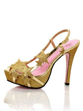 Starlight Strappy Gold Sandal Womens