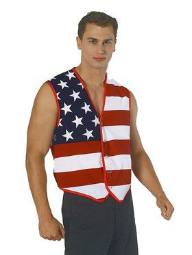 Stars and Stripes American Flag Vest