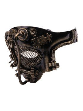 Steam Punk Gold Half Mask