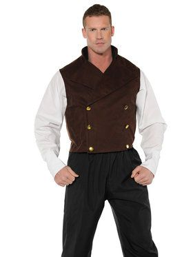 Steam Punk/Renaissance Vest Men's Costume
