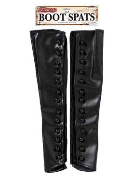 Steampunk Boot Spats - Black