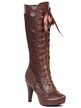 Steampunk Brown Adult Boots
