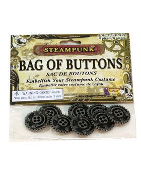 Steampunk Accessory Buttons Eight Pieces
