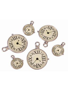 Steampunk Clock Charms 6 Pack Accessory