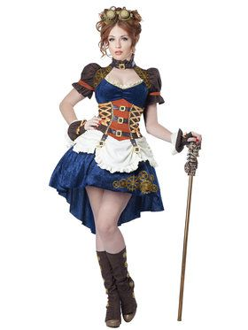 Steampunk Fantasy Women's Costume