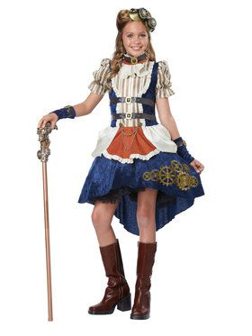 Steampunk Fashion Girl's Costume
