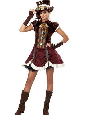 Steampunk Girl's Costume