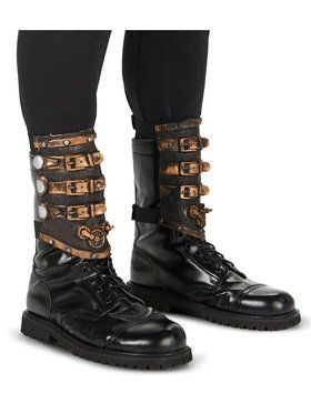 Steampunk Latex Spats for Adults